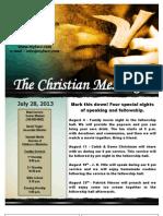 July 28 Newsletter