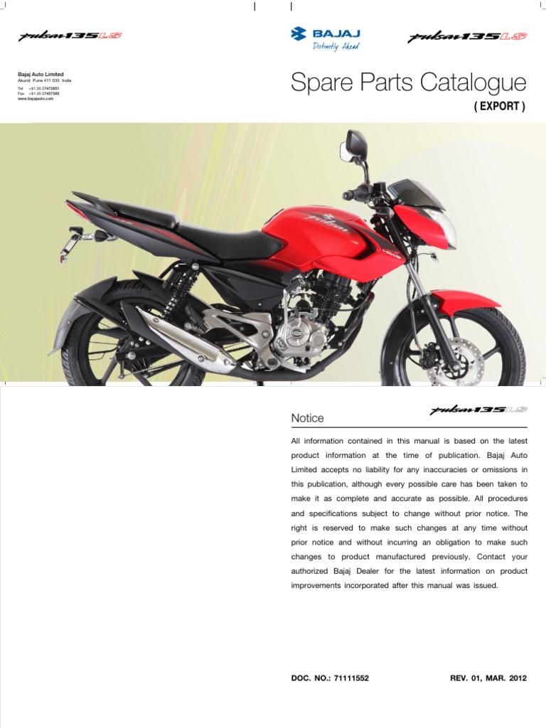 manual de partes pulsar 135 ls transmission mechanics carburetor rh es scribd com Behringer Mixer Manuals Bajaj Bikes