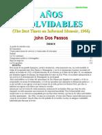 DOS PASSOS JOHN - AÑOS INOLVIDABLES
