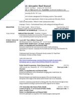 Eric Stoessel Public Health Resume