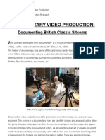 Documentary Video Production-documenting British Sitcoms
