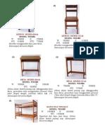 Spesifikasi WH Furniture (62 Item) (2008)