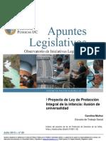 MUÑOZ Proyecto de Ley de Protección Ilusion de universalidad