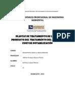 Trabajo de Saneamiento Planta de Tratamiento de Agua de Potabilisacion