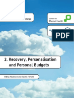 Personalisation Recovery Personal Budgets