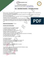 CAD Service - Autodesk Inventor - Formation de Base -  Luxembourg - Belgique - Lorraine