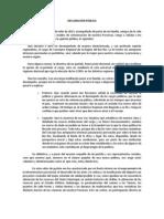 DECLARACIÓN PÚBLICA JUAN FRANCISCO DEL PINO