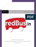 Managing Organizations Redbus Report