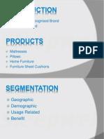 segmentation of sleepwell brand