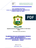 Modulo Lechero Aucayacu UNAS