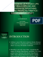 Breathing exercise for asthma