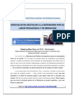 Repercusión internacional de la DP  JULIO 2013