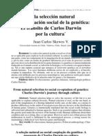 Juan Carlos Skewes - De la Seleccion Natural a la Cooptacion de la Genetica Transito de Darwin Por la Cultura.pdf