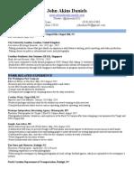 john daniels resume extended