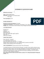 SandeepCheema GD Pi Questionnaire