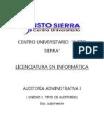 UNIDAD I TIPOS DE AUDITORÍAS