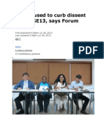 4 laws used to curb dissent post-GE13, says Forum Asia
