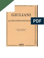 23 Estudios Escogidos Para Guitarra - Mauro Giuliani