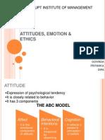 Attitudes, Emotion & Ethics