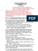 Rglamento futbol Infanto Juvenil-Consejo Federal