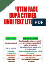 Ce Putem Face Dupa Citirea Unui Text Literar