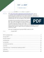 TEF en RDF - premier essai