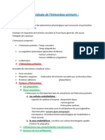Physiologie de l'hémostase primaire