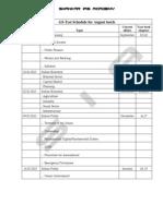 New GS Test Batch Schedule Annanagar