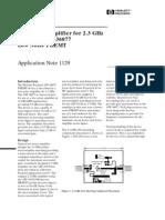 HP AN1129 Low Noise 2.3GHz Amplifier ATF-36077