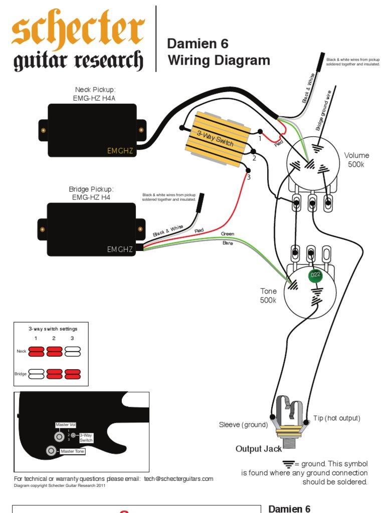 Schecter Wiring Diagrams Data Diagram Schema Schematics 2 Pickups To A 3 Way Switch Diamond Series Box Stargazer B