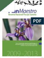 Plan Maestro 2009-2014 RN Pacaya Samiria Ver Pub