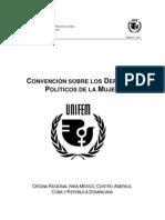 MUJER Convencion Sobre Los Derechos Politicos de La Mujer