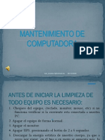.MANTENIMIENTO PREVENTIVO DE UNA PC.