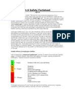 H2S Safety Factsheet