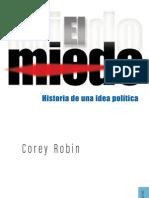 El Miedo - Una Historia de Una Idea Politica - Corey Robin