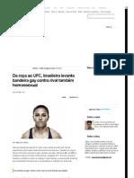 Da roça ao UFC, brasileira levanta bandeira gay contra rival também homossexual