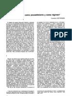 """Castoriadis, Cornelius. """"La democracia como procedimiento y como régimen"""""""