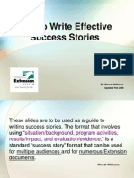 Writing Good Success Stories
