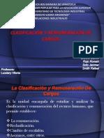 Clasificacion y Remuneracion de Cargos