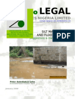 Silt Management; Flood Control; Peter Aniediabasi John; Ecolegal Nigeria
