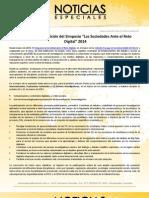 """Confirmada VII edición del Simposio """"Las Sociedades Ante el Reto Digital"""" 2014"""