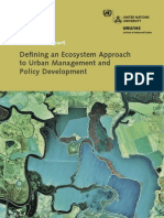 Defining an Ecosystem Approach to Urban Management and Policy Development