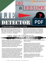 Become a Resume Lie Detector