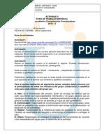 Trabajo Individual Act 2 Competencias Comunicativas