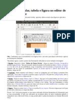 Bordas, Capitular, Tabela e Figura Writer