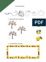Colorează potrivit fructele toamnei