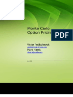 Monte Carlo Option Pricing