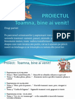 Proiectul Toamna, Bine Ai Venit!