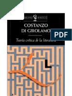 Di Girolamo_Teoría crítica de la literatura