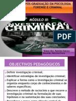 Modulo III - Investigacao Criminal